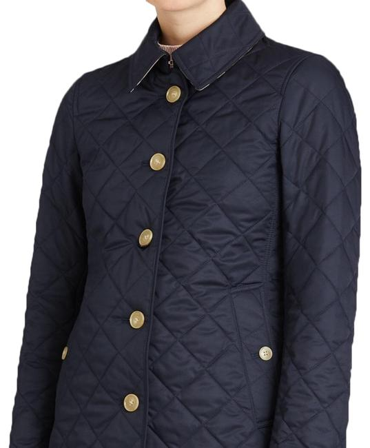 Item - Navy XL Diamond Quilted Button-front Jacket Size OS (one size)