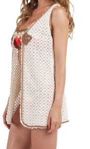 Pin-Up Stars New Women Hand-Knitted Vest & Beach Cover-Up 100% Cotton Suede