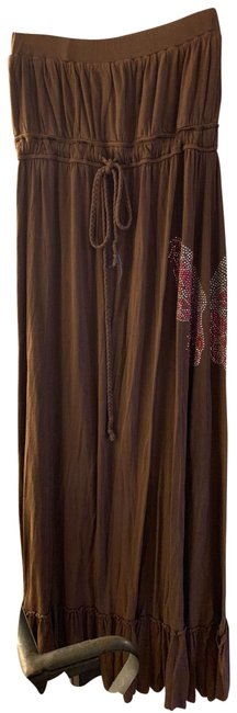 Item - Brown Butterfly Bling Long Casual Maxi Dress Size 12 (L)