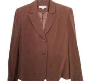 Dress Barn Brown silk skirt suit