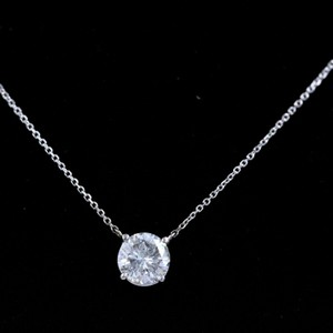 G I1 Round Solitaire Pendant 1.31 Cts 16' Inches Necklace