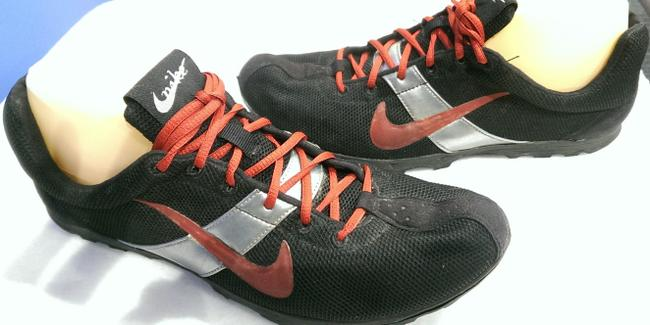 "Item - Black Red Grey Id Men's ""Beard Life"" Track Field Spike Racer Cleat 9m Shoes"