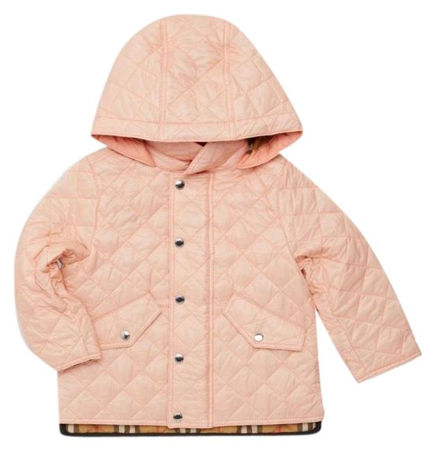 Item - Pink Baby Girls Ilana Quilted Hooded Check Lined Fall Winter Jacket Coat Size 6 (S)