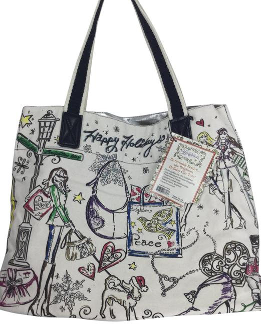 Item - Holiday City with Cosmetics Pouch Black/ White Multi Canvas Tote
