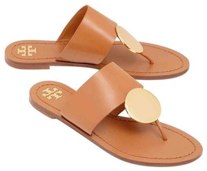 Tory Burch tan / gold Sandals