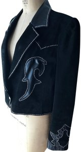 Diamond Leathers Studs Suede Western Cowboy Cowgirl Leather Jacket