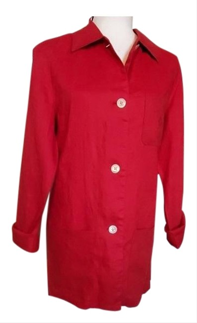 Item - Red Linen Tunic Size 10 (M)