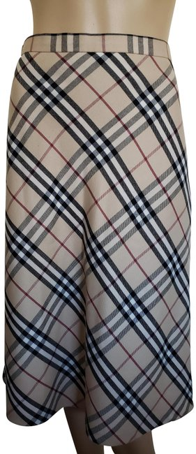 Item - Beige Multicolor London Nova Check Skirt Size 8 (M, 29, 30)