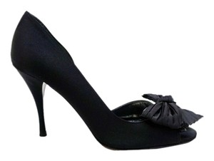St. John Peep Toe Black Pumps