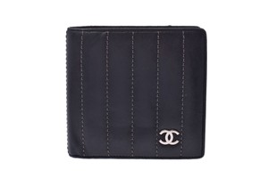 Chanel Chanel Mademoiselle Leather Wallet Black