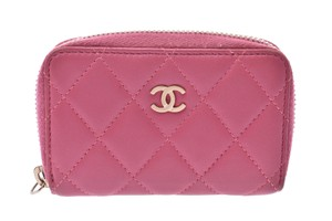 Chanel Chanel Matelasse Leather Wallet Pink