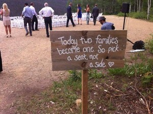 Today Two Families Become One Sign
