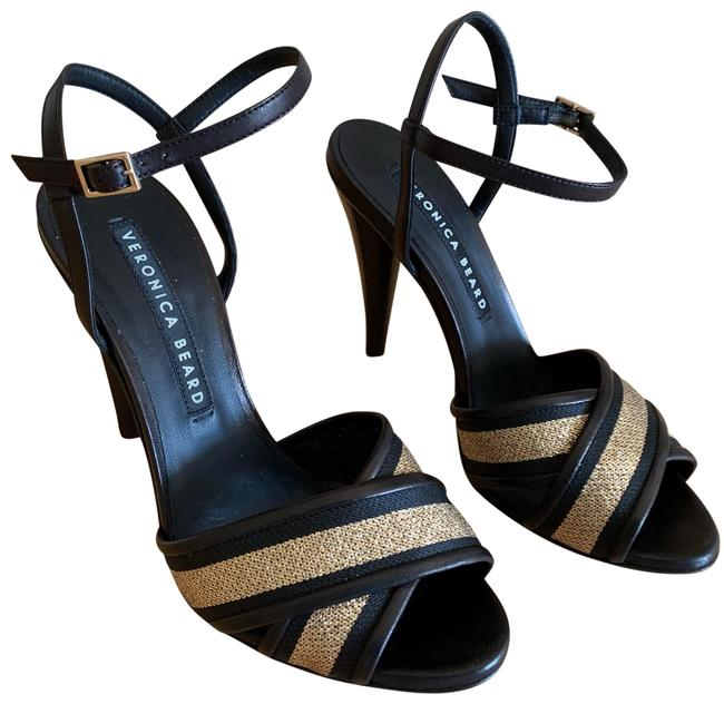 Item - Black and Gold Olympia Sandal Formal Shoes Size US 8 Regular (M, B)