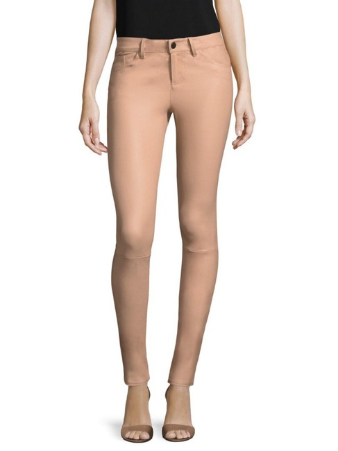 Item - Nude Pink Leather Skinny Pants Size 2 (XS, 26)