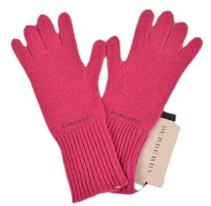 Burberry New Burberry Fuschia Pink Cashmere Blend Knitted Texting Touch Mittens