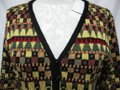 French Rags Black Green Yellow Red Button Sweater Small Sm S Cardigan Size 6 (S) French Rags Black Green Yellow Red Button Sweater Small Sm S Cardigan Size 6 (S) Image 4