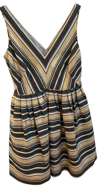 Item - Grey and Gold Attire Short Cocktail Dress Size 4 (S)