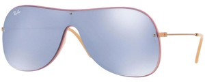 Ray-Ban & Dark Violet Mirrored Silver Lens Unisex Sunglasses