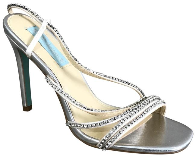 Item - Silver New Blue By Aces Evening Sz. Sandals Size US 8.5 Regular (M, B)