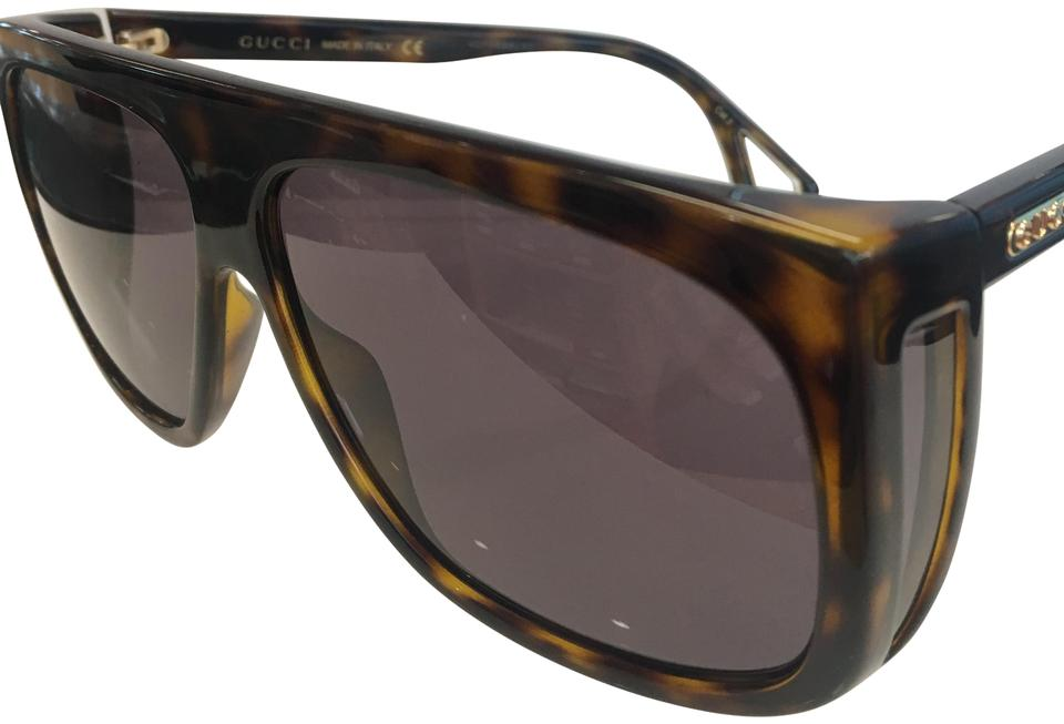 Gucci Gold Gg0252s 003 Gg 0252s Brown Gradient Lens