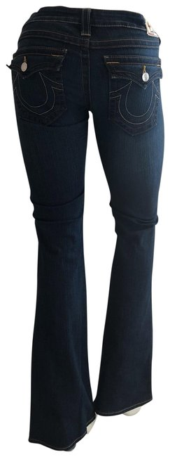 Item - Medium To Dark Some Fade Wash Becky Rn #112790 Flare Leg Jeans Size 8 (M, 29, 30)