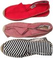 Soludos Espadrille Striped Red/Black Flats