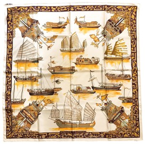 Hermès Hermes Multi-Color Silk Jonques et Sampans Square Scarf SALE!