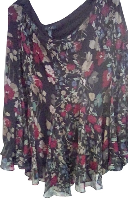 Item - Floral Multi Co Or Collection Short Work/Office Dress Size 14 (L)