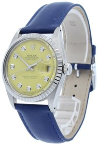 Rolex ROLEX OYSTER PERPETUAL DATEJUST STAINLESS STEEL YELLOW DIAL 36MM WATCH