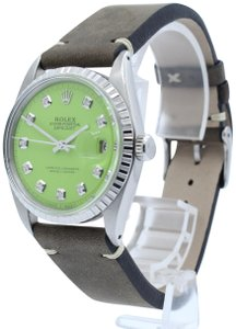 Rolex ROLEX OYSTER PERPETUAL DATEJUST STAINLESS STEEL LIME/GREEN DIAL 36MM W