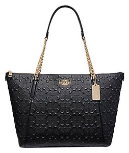 Coach Leather Ava Tote in Black