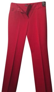 New York & Company Straight Pants red