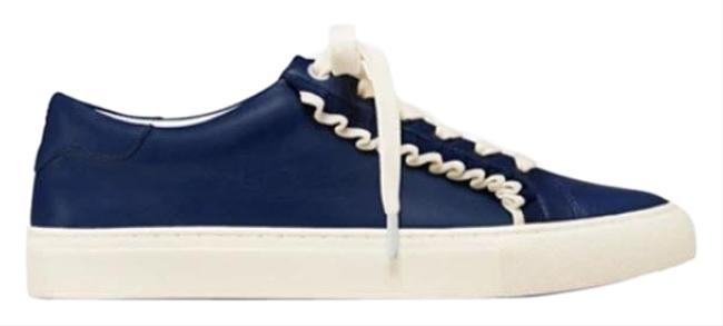 Item - Blue Ruffle Leather Sport Sneakers Size US 9 Regular (M, B)