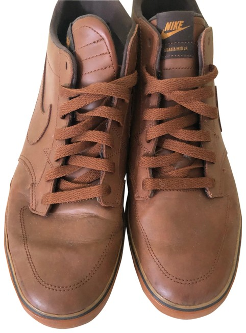 Item - Brown Air Force 1s In Leather Sneakers Size US 11 Regular (M, B)