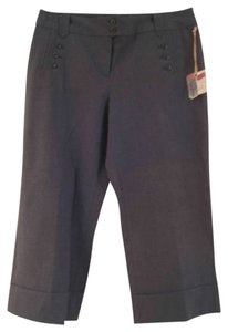 Dillard's Intuitions Capris Dark Gray