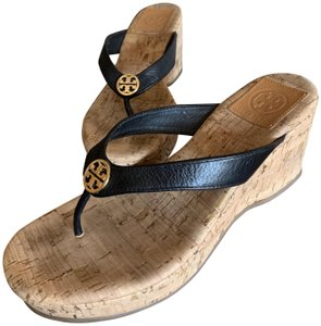 Tory Burch Black/Cork Sandals