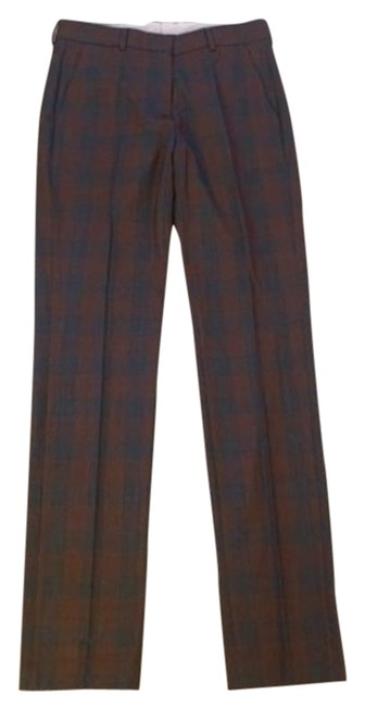 Item - Grey Mid Rise Plaid Stretch Wool Pants Size 4 (S, 27)