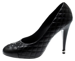 Chanel Quilted Leather Black Pumps