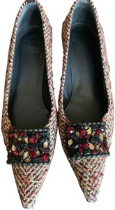 Stuart Weitzman Maroon Tweed Formal