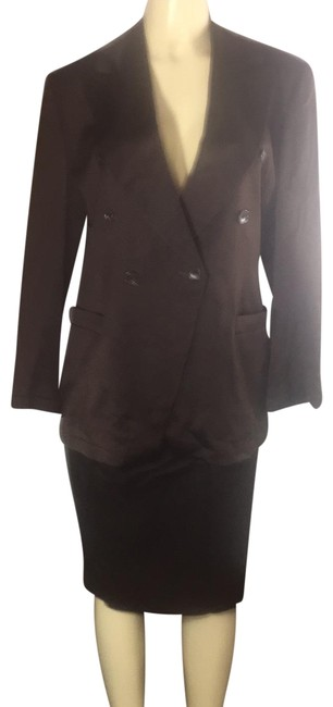 Item - Coco Brown Power Double Breasted Skirt Suit Size 12 (L)