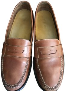 Cole Haan Brown Leather Men's Saddle Tan Flats