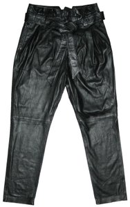 Joie Leather Leather Leather Leather Capri/Cropped Pants Black