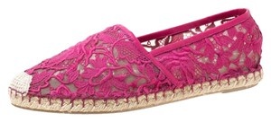 Valentino Leather Rubber Pink Flats
