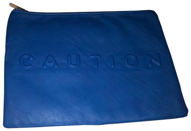 Item - Embossed Blue Leather Clutch