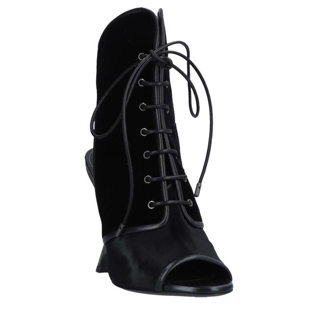 Item - Black Wedge Velvet Ankle Boots/Booties Size US 6 Regular (M, B)