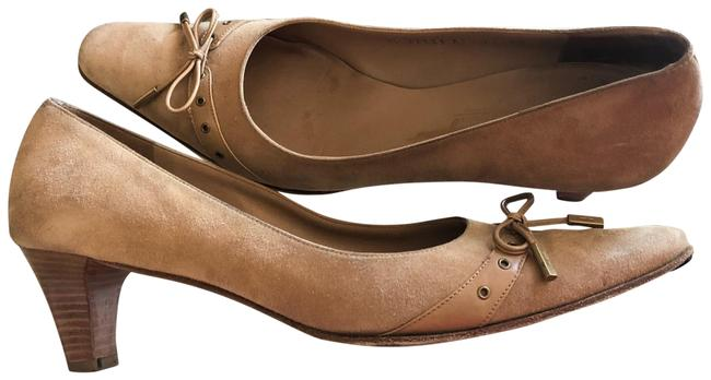 Item - Camel W In Italy Suede W/Leather Bow Pumps Size US 11 Narrow (Aa, N)