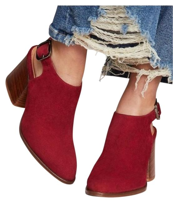 Item - Red Horky Suede Mules/Slides Size EU 37.5 (Approx. US 7.5) Regular (M, B)
