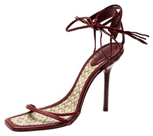 Gucci Leather Ankle Red Sandals