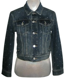 Current/Elliott Baby Trucker Studded Womens Jean Jacket