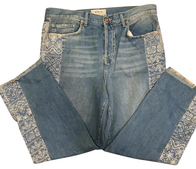 Item - Blue Distressed We The Straight Leg Jeans Size 6 (S, 28)
